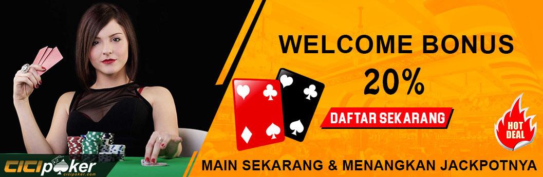 bonus welcome judi poker online